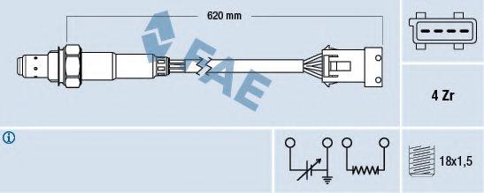 Лямбда-зонд FAE 77166
