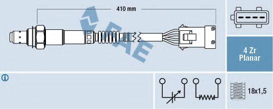 лямбда зонд 4 провода C/P 98- +разьем  арт. 77282