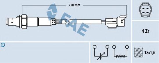 Лямбда-зонд FAE 77296