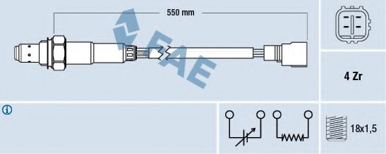 Лямбда-зонд FAE 77310