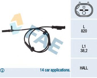 Датчик ABS  арт. 78050