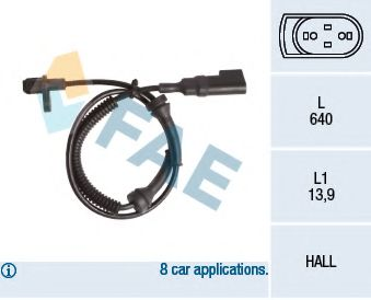Датчик ABS (задний) Ford Connect 1.8 TDCI 02-13  арт. 78145