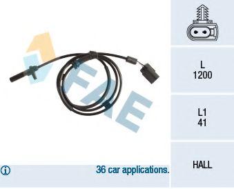 Датчик ABS (задний) L Ford Transit 2.2-3.2TDCi 06-  арт. 78258