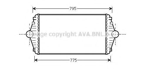 Интеркулер Интеркулер P806/EVASION/ULYSSE D 94- (Ava) AVAQUALITYCOOLING арт. CN4086