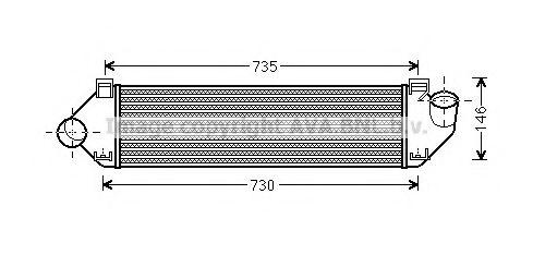 Focus II 1.6 TDCi 02 Интеркулер  арт. FDA4438