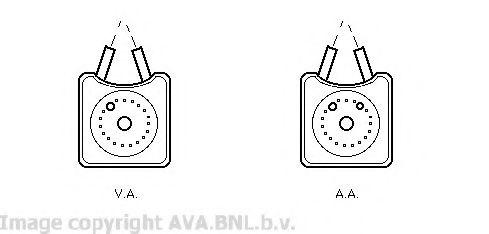 Масляный радиатор Радиатор масляний VARIOUS AUDI/FORD/SEAT (Ava) AVAQUALITYCOOLING арт. VW3147