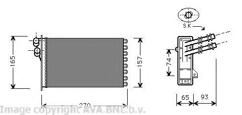 Теплообменник, отопление салона AVAQUALITYCOOLING VW6173
