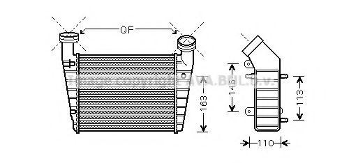 Интеркулер Интеркулер PASSAT6/SUPERB 19TDi 00- (Ava) AVAQUALITYCOOLING арт. VWA4238