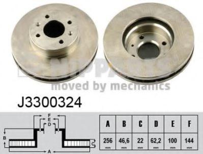 Тормозной диск  арт. J3300324