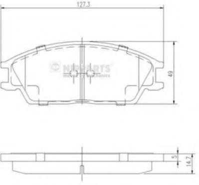 Комплект тормозных колодок  арт. J3604020