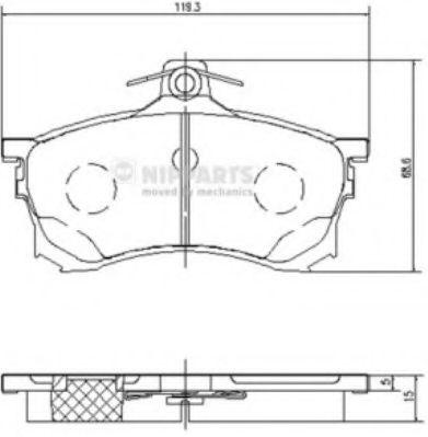 Тормозные колодки дисковые NIPPARTS J3605037