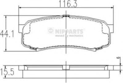 Тормозные колодки дисковые NIPPARTS J3612010