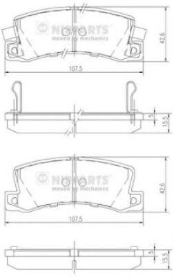 Колодки тормозные диск. Toyota AVENSIS; COROLLA (пр-во Nipparts)                                      арт. J3612013
