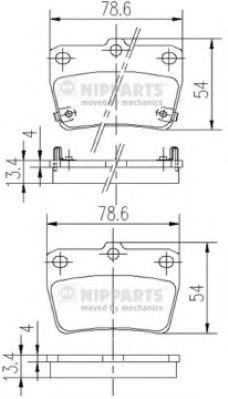 Тормозные колодки дисковые NIPPARTS J3612020