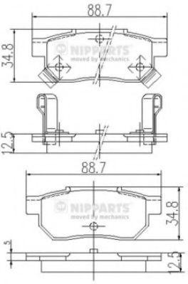 Тормозные колодки, к-кт.  арт. J3614004