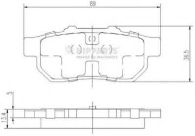 Комплект тормозных колодок  арт. J3614007