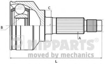 Шарнирный комплект, приводной вал  арт. J2824001