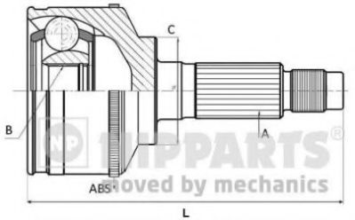 Шарнир приводного вала (ШРУС), к-кт.  арт. J2824129