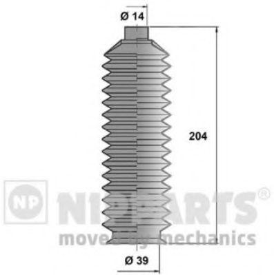 Пыльник рулевой рейки NIPPARTS J2843000