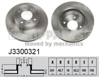 Тормозной диск  арт. J3300321