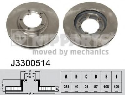 Тормозной диск  арт. J3300514