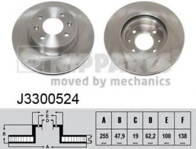 Тормозной диск  арт. J3300524