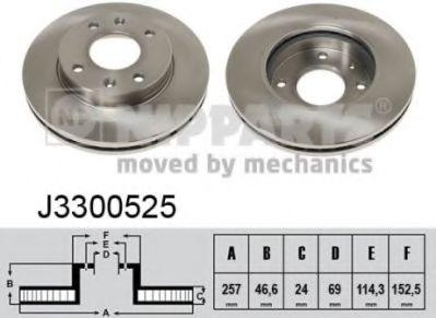 Тормозной диск  арт. J3300525
