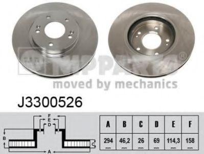 Тормозной диск  арт. J3300526