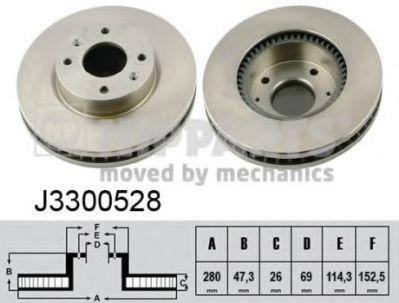 Тормозной диск  арт. J3300528