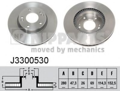 Тормозной диск NIPPARTS J3300530