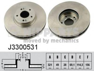 Тормозной диск  арт. J3300531