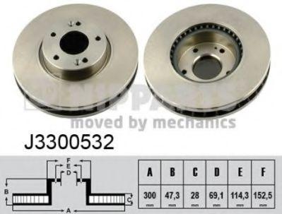 Тормозной диск  арт. J3300532