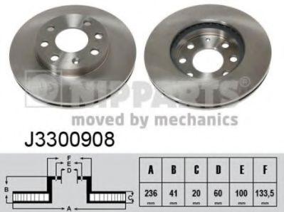 Тормозной диск  арт. J3300908