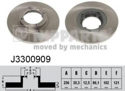 Тормозной диск NIPPARTS J3300909