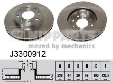 Тормозной диск  арт. J3300912