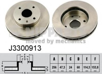 Тормозной диск  арт. J3300913