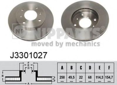 Тормозной диск NIPPARTS J3301027