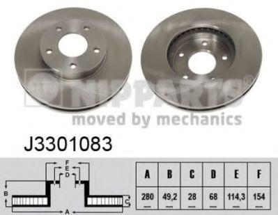 Тормозной диск  арт. J3301083