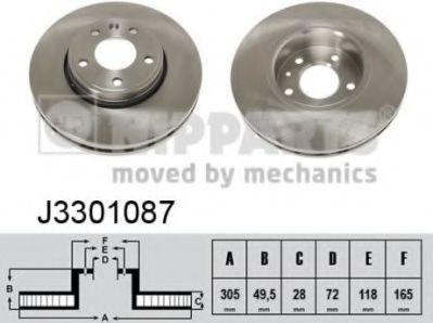 Тормозной диск  арт. J3301087