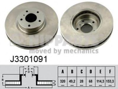 Тормозной диск  арт. J3301091