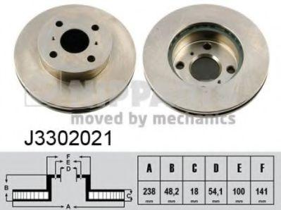 Тормозной диск NIPPARTS J3302021