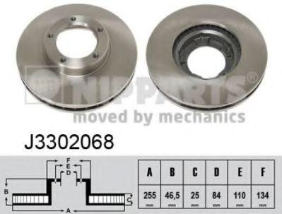 Тормозной диск NIPPARTS J3302068