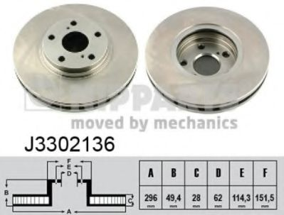Тормозной диск NIPPARTS J3302136
