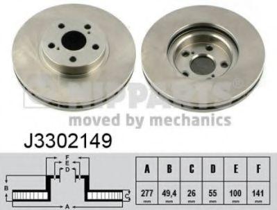 Тормозной диск NIPPARTS J3302149