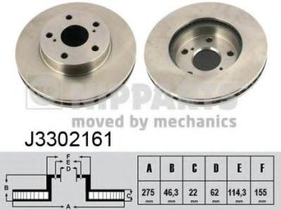 Тормозной диск NIPPARTS J3302161
