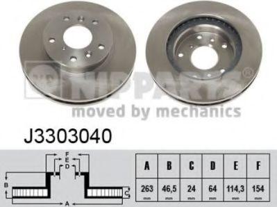 Тормозной диск  арт. J3303040