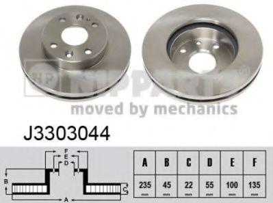 Тормозной диск NIPPARTS J3303044