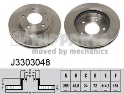 Тормозной диск NIPPARTS J3303048