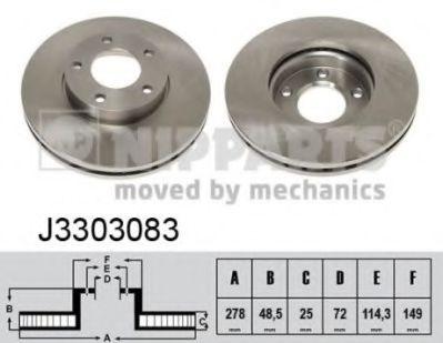 Тормозной диск NIPPARTS J3303083