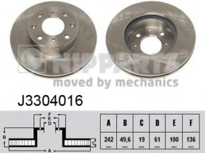 Тормозной диск  арт. J3304016